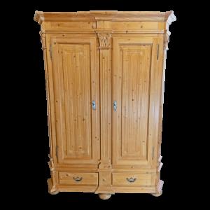 Armadio in Abete color legno con 2 porte e 2 cassetti Mobili Bernardi Jari