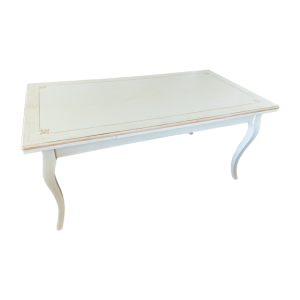 Tavolo in Tiglio bianco con decori tortora Mobili Bernardi Jari