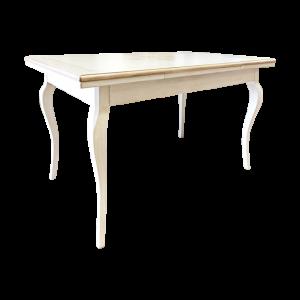 Tavolo in Tiglio con gambe a sciabola Mobili Bernardi Jari